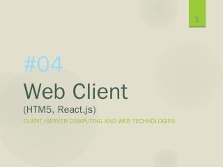 01 Client/Server Computing - X server