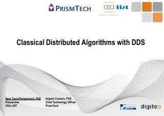 Classical Distributed Algorithms with DDS