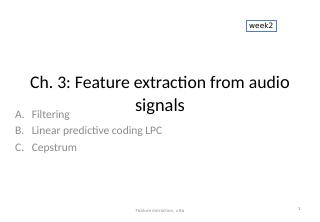 03_Feature extraction from audio signals
