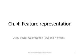 04_Feature representation