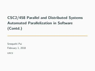 05-Automated Parallelization in Software(Contd.)