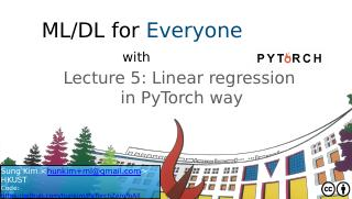 05_ Linear regression  in PyTorch way