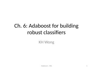 06_Adaboost for building robust classifiers