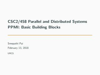 08-PPMI: Basic Building Blocks