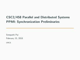 09-PPMI: Synchronization Preliminaries