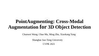 青年论坛第六期-多模态3D目标检测