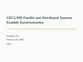 10-Scalable Synchronization