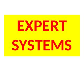 12_Expert Systems