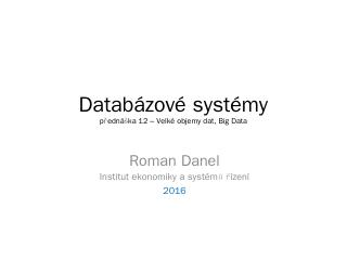 12. Big data - HomeL