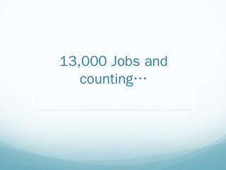 13000 Jobs and counting - Jenkins Wiki