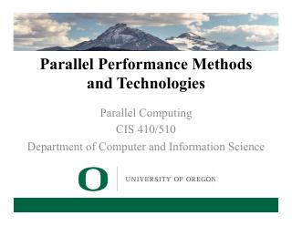 13-Parallel Performance Methods and Technologies