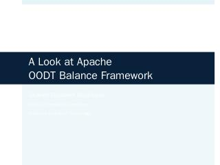 13:30-A Look at Apache OODT Balance Framework...