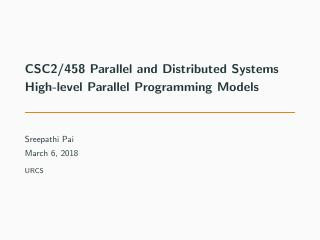 14-High-level Parallel Programming Models
