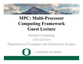 15-MPC: Multi-Processor Computing Framework G...