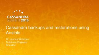 16/07 -  Cassandra backups and restorations u...