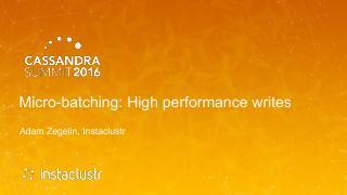 16/07 - Micro-batching - High performance wri...
