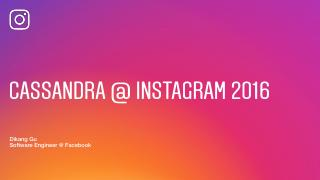 16/09  Cassandra at Instagram Facebook 2016