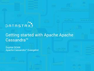 16/11 Introduction to apache cassandra by dat...