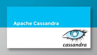 17/01 Presentation of Apache Cassandra