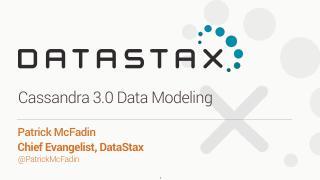 17/07 - Cassandra 3.0 Data Modeling