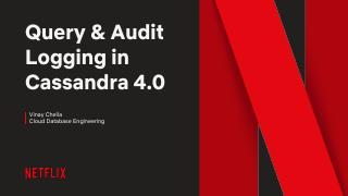18/09 - Query and audit logging in cassandra4.0