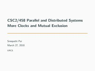 18-More Clocks and Mutual Exclusion