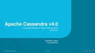 19/02 - Apache cassandra v4.0
