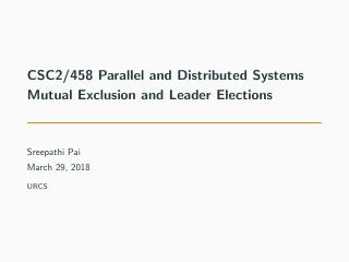 19-Mutual Exclusion and Leader Elections