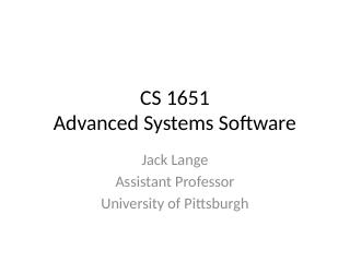 1-Advanced Systems Software
