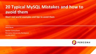 20 Typical MySQL Mistakes and how to avoid them