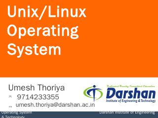 2140702 OS UNIT-9 - Darshan Institute of Engi...