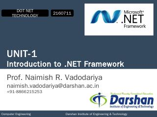 2160711 DOT NET Technology Unit-1 - Darshan I...
