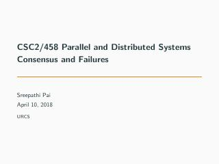 21-Consensus and Failures