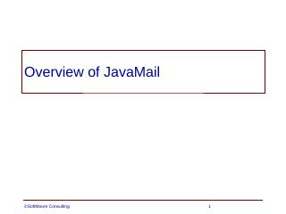 21 - Overview of JavaMail