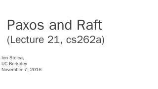 21 paxos raft