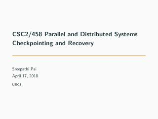23-Checkpointing and Recovery