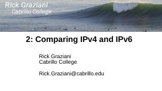 2: Comparing IPv4 and IPv6 - Cabrillo College