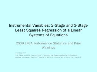 2-Stage Least Squares Regression of a Linear ...