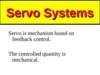 34_ServoSystems, ServoMotors