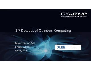 3.7 Decades of Quantum Computing