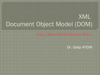 5. XML DOM