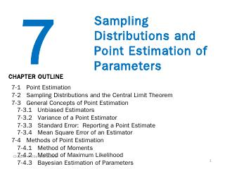 7 Sampling Distributions and Point Estimation...