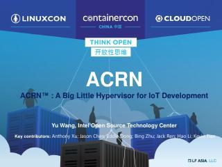 ACRN Hypervisor