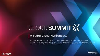 A Better Cloud Marketplace(encore)