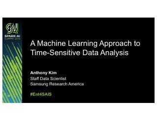机器学习对时间敏感数据的分析方法