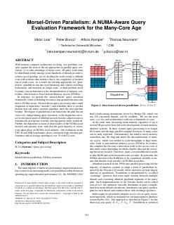 A NUMA-Aware Query Evaluation Framework for t...