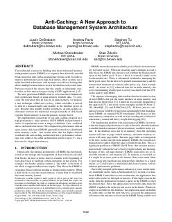A New Approach to Database Management System ...
