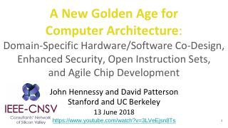 A New Golden Age for Computer Architecture