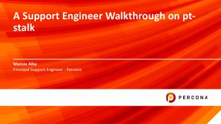A Support Engineer Walkthrough on pt-stalk