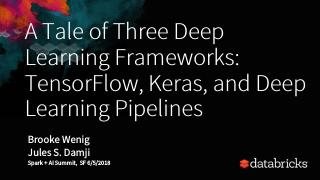 三个深度学习框架的故事:TysFROW、K...